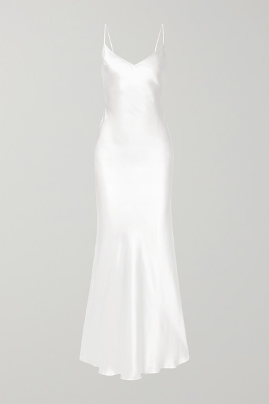 RASARIO - 丝缎礼服 - 白色 - FR34