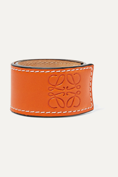 Loewe - Logo 压花皮革手环 - 橙色 - One size