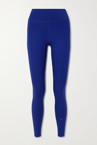 Nike - One Luxe Dri-fit 紧身运动裤 - 钴蓝色 - large