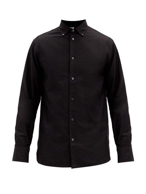 The Row - Robert Cotton-oxford Shirt - Mens - Black