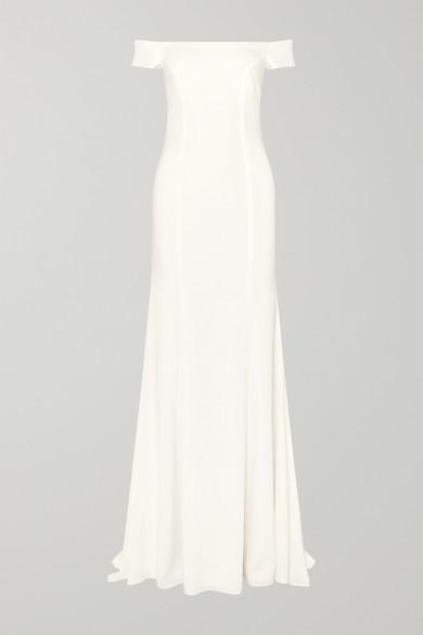 Rime Arodaky - Louvre 露肩绉纱礼服 - 白色 - FR38