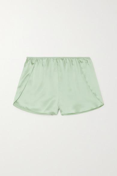 Anine Bing - Jade 丝缎短睡裤 - 绿色 - x small