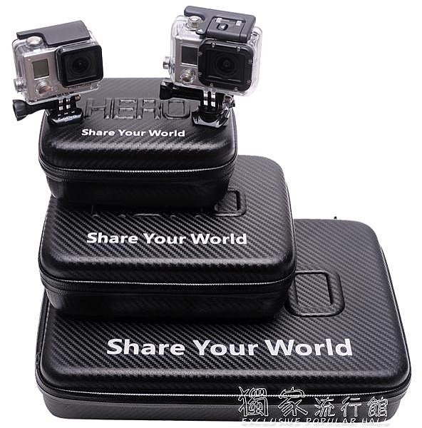 GoPro配件GOPRO配件防水包hero3/4/5/6/7/8收納包工具包面大中小包PU光包 【快速出貨】