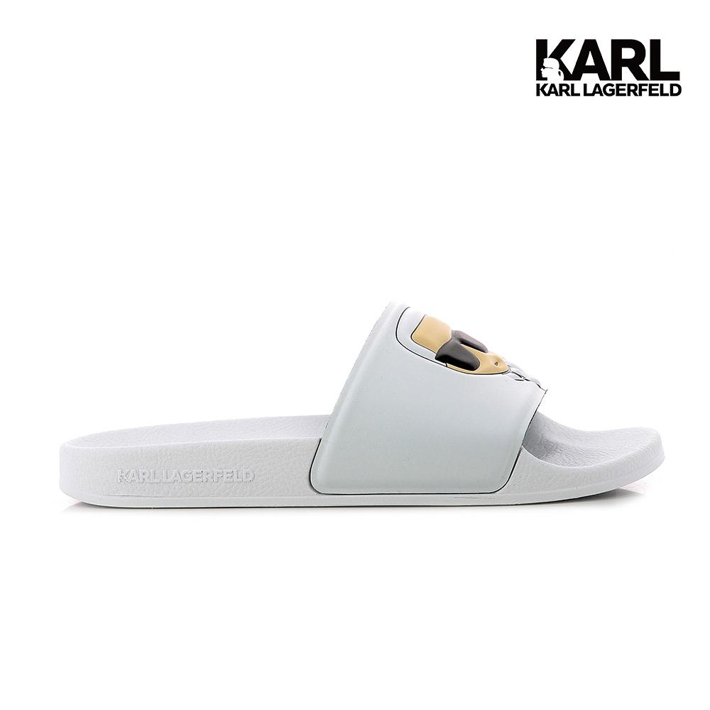 【KARL LAGERFELD】KONDO II IKONIK拖鞋-白