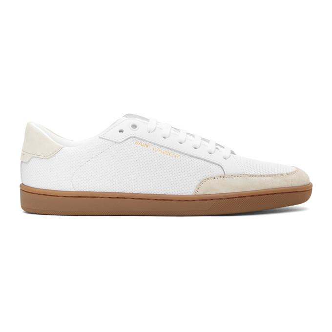 Saint Laurent 白色 Court Classic SL 10 运动鞋