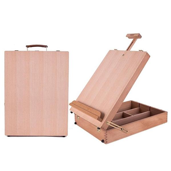 手提畫箱寫生畫箱油畫箱國畫素描便攜美術工具箱兒童桌面畫架木質 ciyo黛雅