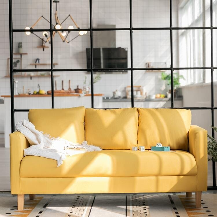 免運 沙發小戶型客廳簡易租房小沙發北歐簡約現代網紅款布藝單雙人沙發 概念3C