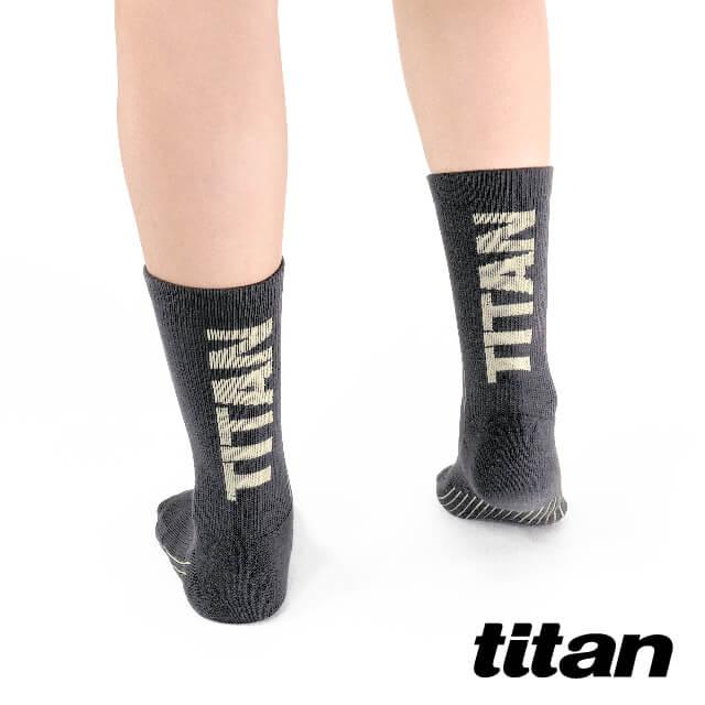 【titan】舒壓生活中筒襪_深灰~純棉透氣