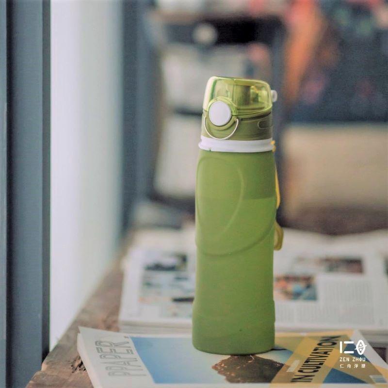 捲捲矽水瓶 750ml 大地綠