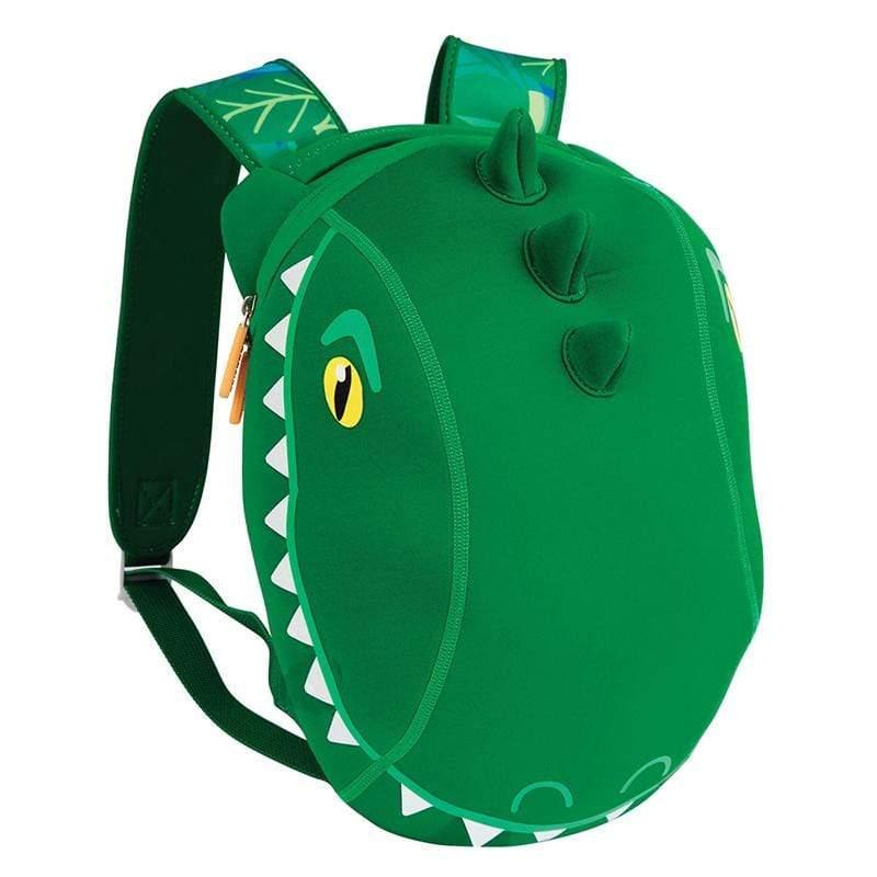 潛水布防水快乾兒童背包-鱷魚