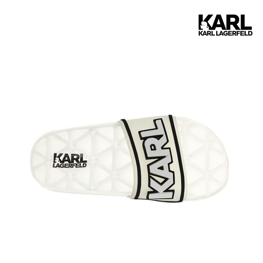 【KARL LAGERFELD】KONDO KARL防水拖鞋-白