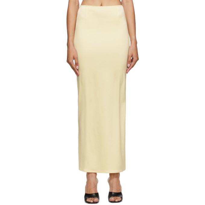 Georgia Alice 黄色缎面半身裙