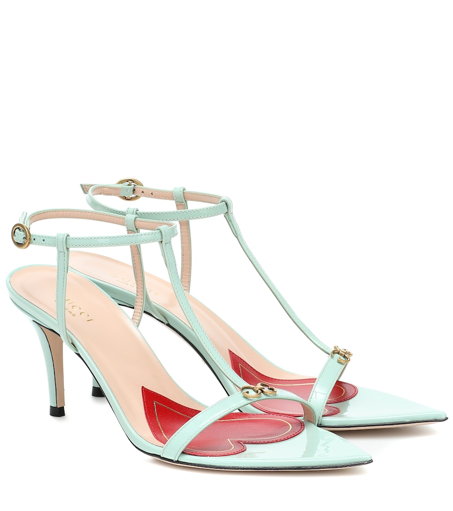 Pointed 75 leather sandals