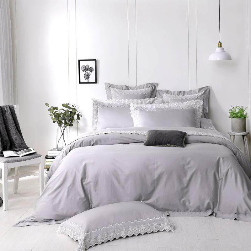 荷斯緹雅 300織精梳棉四件式被套床包組(加大)