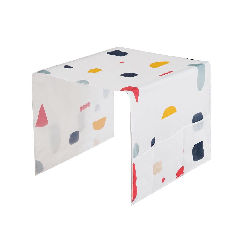 【現貨】居家家 多彩幾何碎花冰箱側掛袋家用防水蓋布防塵罩冰箱罩防塵布