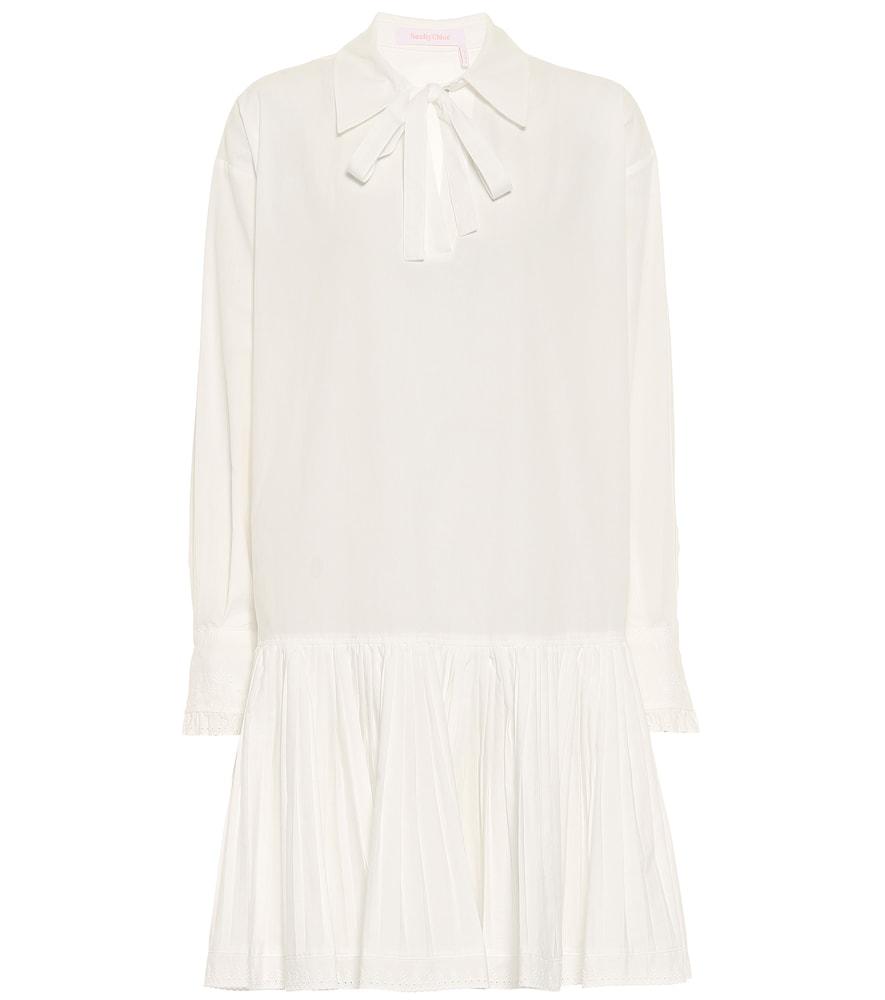 Drop-waist cotton minidress