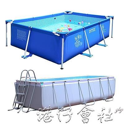 家用大型兒童充氣加厚游泳池大人嬰兒小孩超大戶外支架可折疊水池 港仔會社