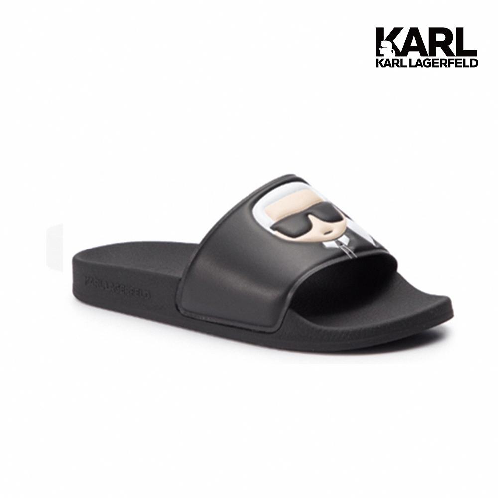 【KARL LAGERFELD】KONDO II IKONIK拖鞋-黑