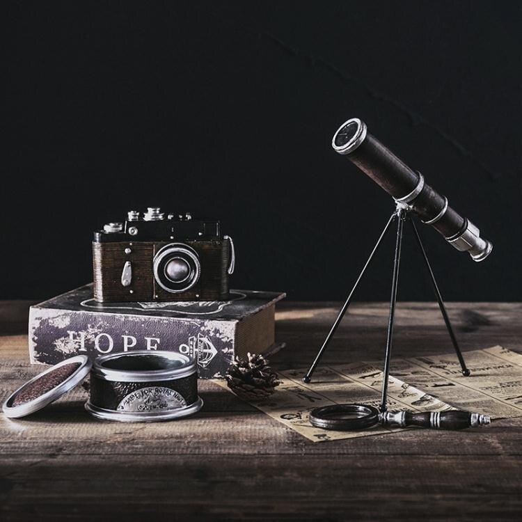 美式復古照相機模型擺件客廳家居裝飾品咖啡廳歐式工藝品擺設YJT 概念3C