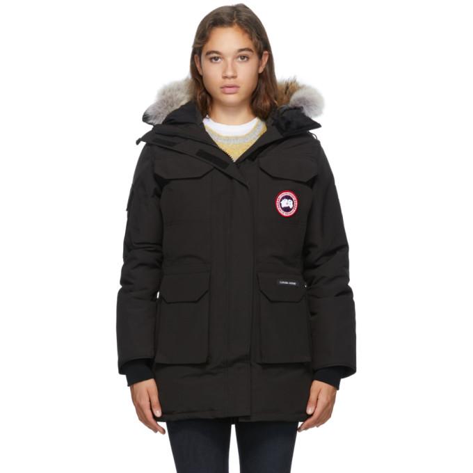 Canada Goose 黑色 Expedition 羽绒派克大衣