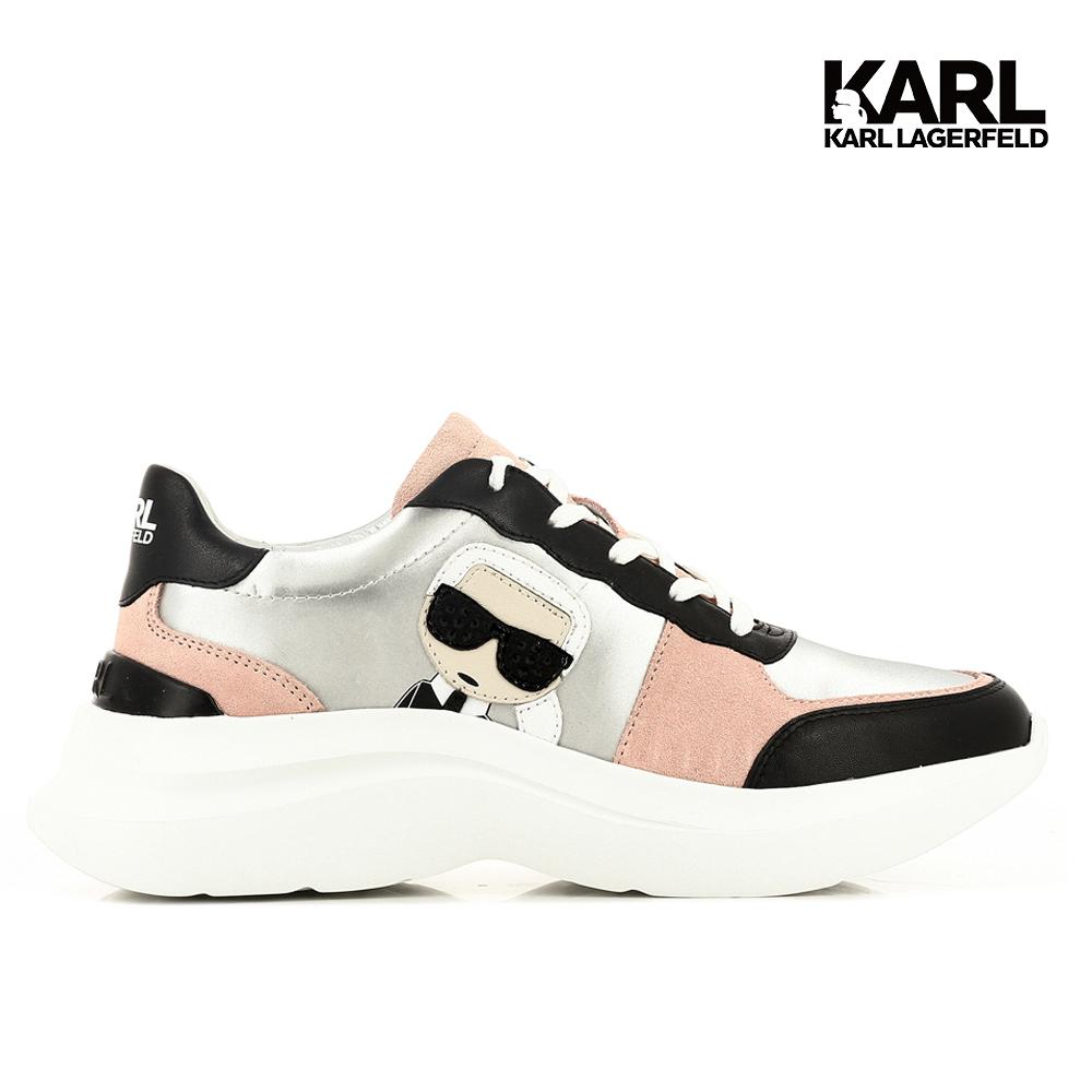 KARL LAGERFELD】SKYLINE IKONIK運動鞋-黑粉