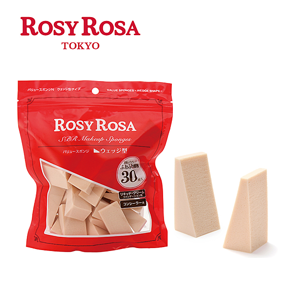 ROSY ROSA 粉底液粉撲三角形 30入  ◇iKIREI