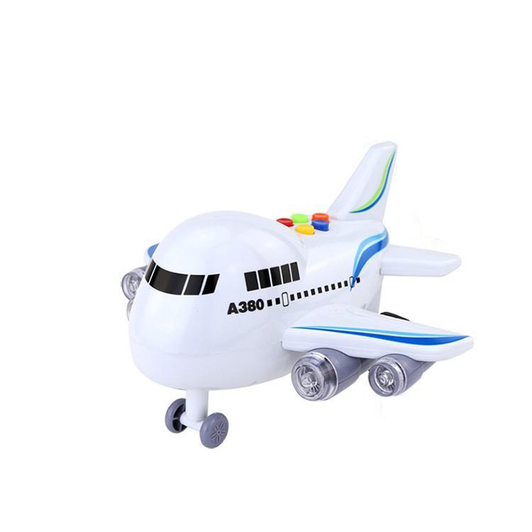 會講英語的音樂大飛機玩具兒童慣性音樂客機兒歌故事飛機語音播報