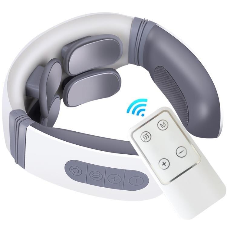 頸椎按摩器升級遙控款護頸儀四頭智慧電脈沖肩頸按摩器 概念3C