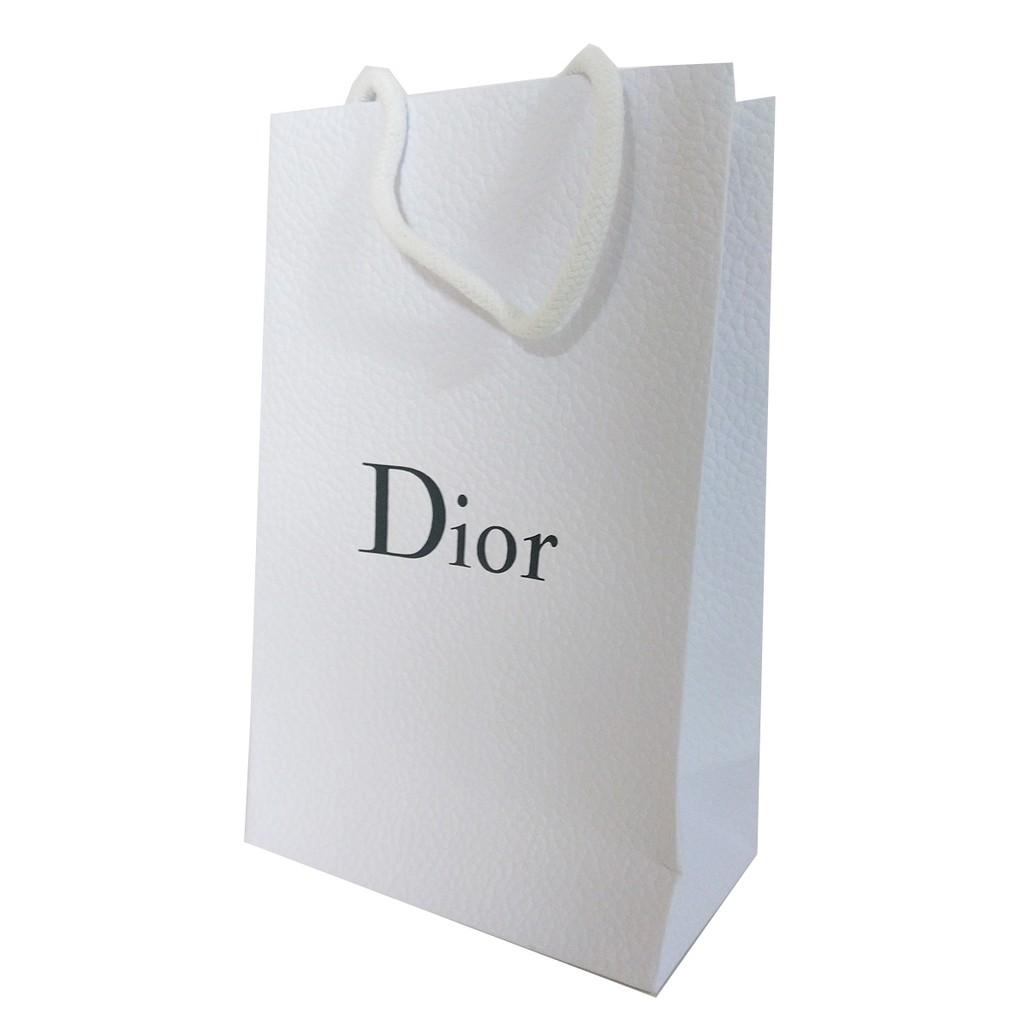 Dior 專櫃原裝紙袋 白色款 22.5x14x8cm 彩妝/香氛加價購專用【SP嚴選家】