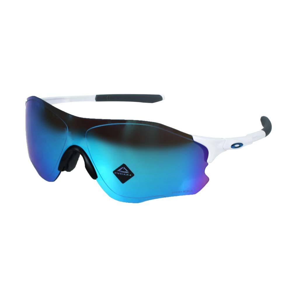 OAKLEY EVZERO PATH一般太陽眼鏡-附硬盒鼻墊  抗UV 單車 白藍 F