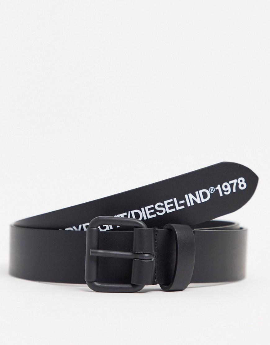 Diesel copyright logo belt in black