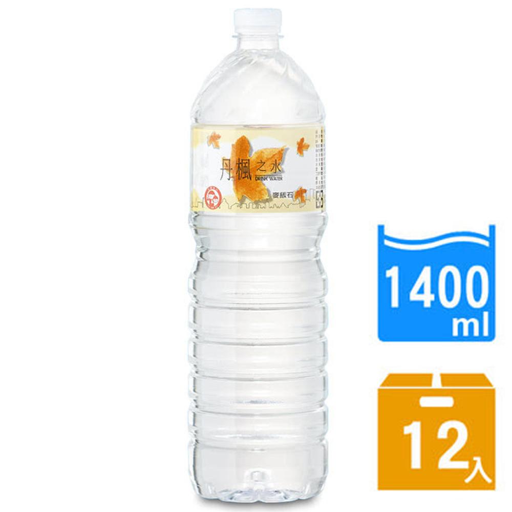 免運【DRINK WATER丹楓之水】麥飯石礦泉水1400ml(12瓶x2箱)
