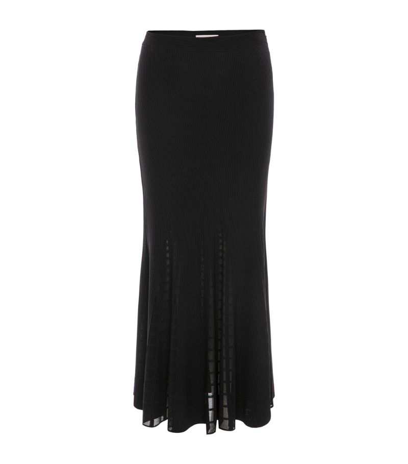 Alexander Mcqueen Rib-Knit Skirt