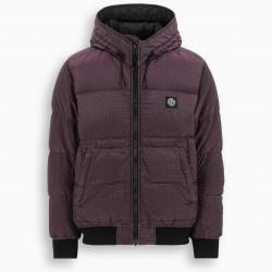 Stone Island Burgundy logoed down jacket