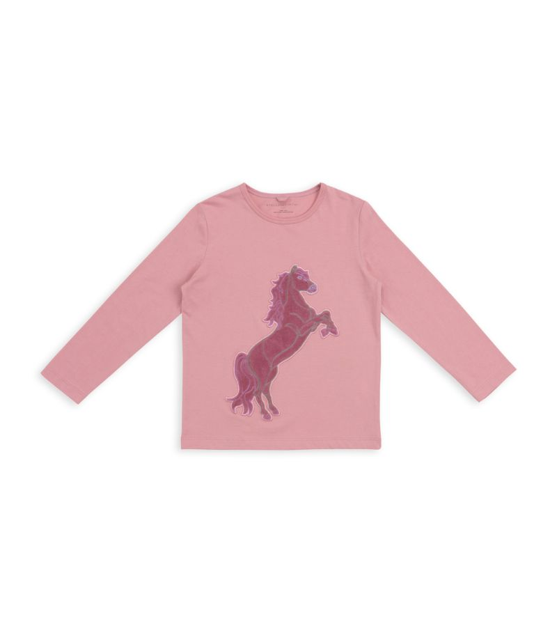Stella Mccartney Kids Horse Patch Long-Sleeved Top (2-14+ Years)