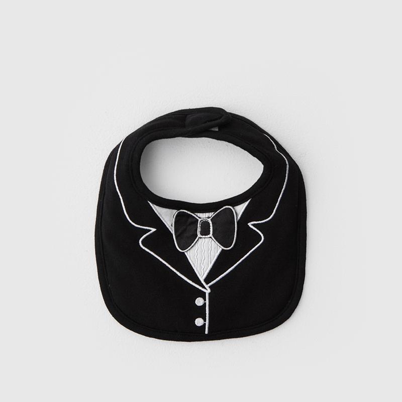 經典燕尾服圍兜 - 黑領結