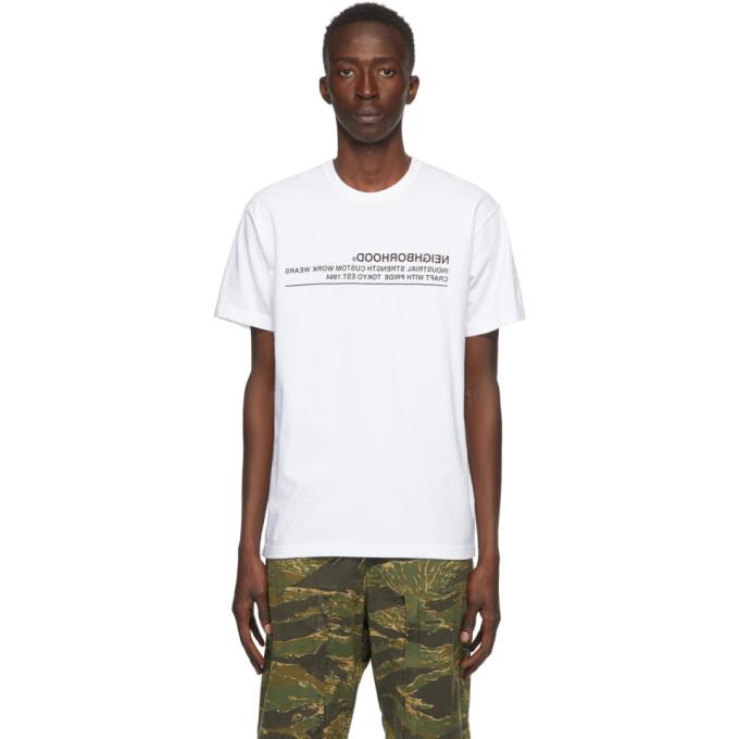 Neighborhood 白色 Archive No. 0201 Logic T 恤