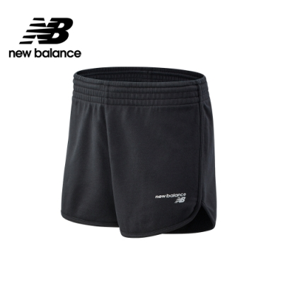 【New Balance】SPORT系列 左腳品牌字樣棉短褲_女性_黑色_WS03801BK