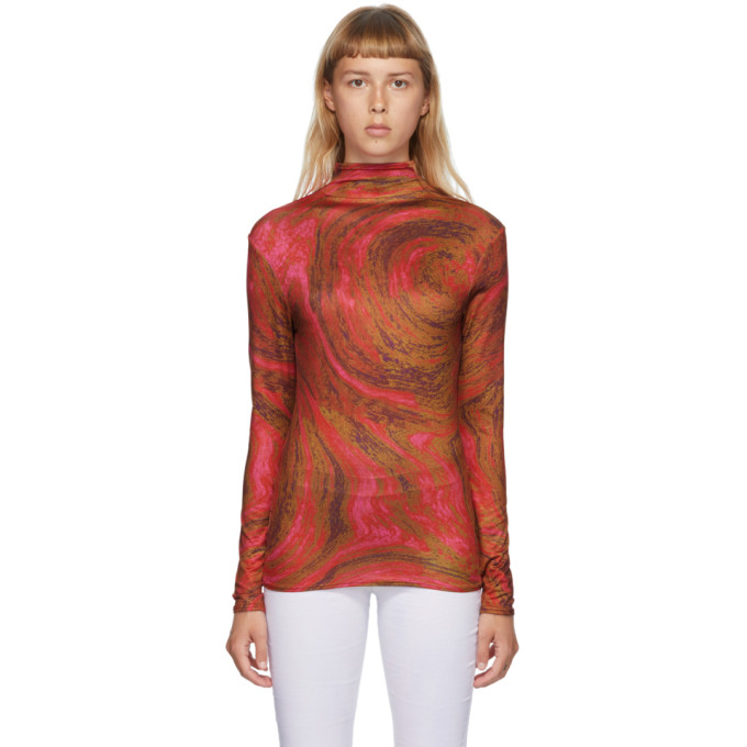 Collina Strada 红色 Cardio Nova 高领衫