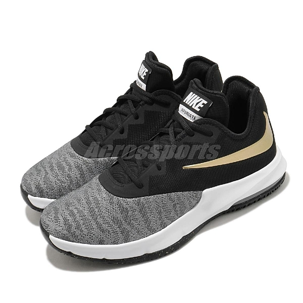 Nike 籃球鞋 Air Max Infuriate III Low 黑 金 男鞋 運動鞋 氣墊 【ACS】 AJ5898-002