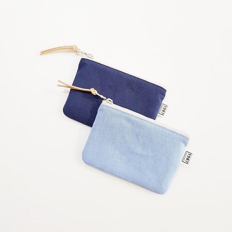 【藍色系】共12色 零錢包 萬用包 卡套 隨身包 拉鏈袋 禮物