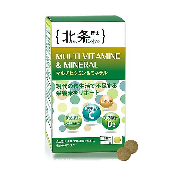 日本嚴選 北条博士 Dr.Hojyo 綜合維他命&礦物質 60粒【BG Shop】
