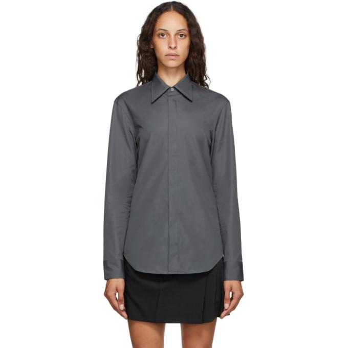 Maison Margiela 灰色府绸衬衫