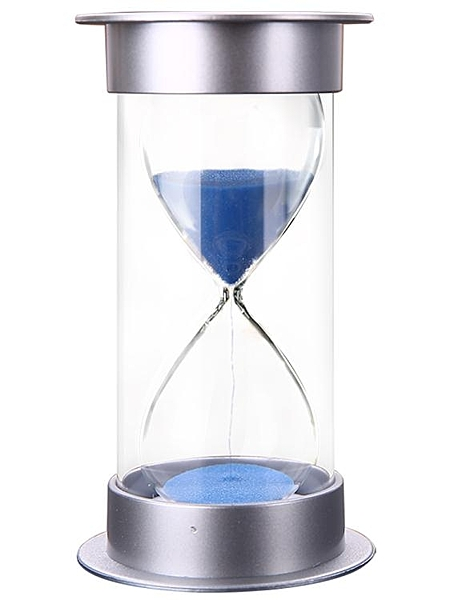 沙漏計時器兒童防摔時間流沙瓶30/60分鐘半小時禮物個性創意擺件 亞斯藍