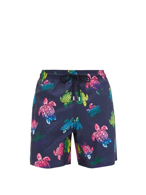 Vilebrequin - Mahina Turtle-print Swim Shorts - Mens - Navy Multi