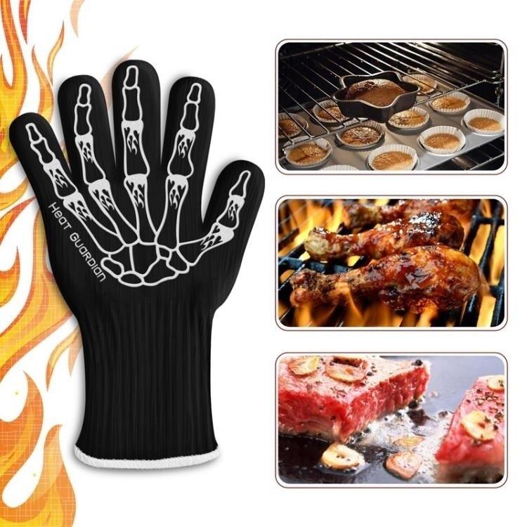 【快速出貨】抗熱手套  廚房專用加厚耐高溫手套微波爐烤箱燒烤隔熱烘焙防燙  創時代 雙12購物節