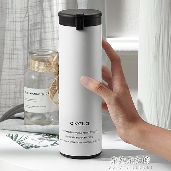 保溫杯 七克拉不銹鋼保溫杯男女士便攜隨手杯子韓版創意潮流學生水杯 朵拉朵