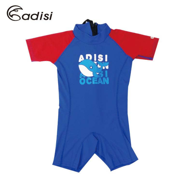 ADISI 兒童連身短袖短褲防磨衣AR1713135 (90-110cm) / 城市綠洲 (UPF50+、防曬、防水母、衝浪、溯溪、浮潛、水上活動)