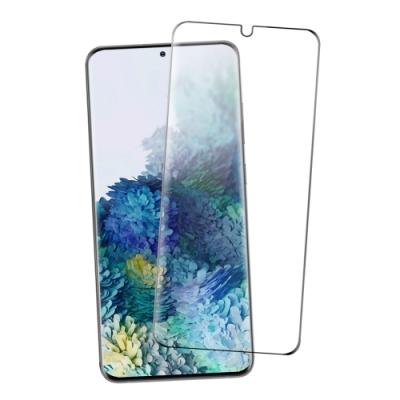 三星 Galaxy S20+ 全螢幕觸控 曲面全膠 9H鋼化玻璃膜 手機螢幕保護貼-S20+(b款)-曲面黑*1