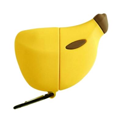 AirPods Pro 藍牙 耳機 保護套 香蕉 造型 保護殼-黃色-黃色*1